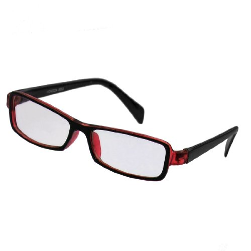 sourcingmap-red-black-plastic-full-rim-rectangle-lens-plain-eyeglasses-plano-glasses-for-children