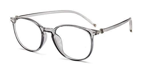 Alittle Mode Brille Halbrahmen Vintage Metallrahmen Fensterglas Brille Ohne Stärke Durchsichtig Sonnenbrille mit Retro Winddicht Sonne Brille Damen Herren
