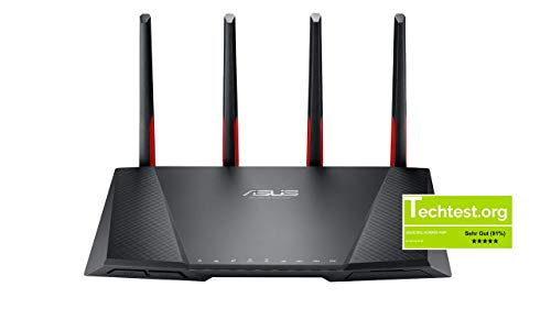 Asus DSL-AC68VG VOIP Modem Router (DE-Version, WiFi 5 AC2300 MU-MIMO, Anrufbeantworter, Gigabit LAN, AiProtection, Dual-Core CPU, Multifunktion USB 3.0)