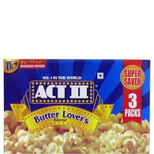 ACT II Microwave Popcorn Butter Lovers, 297g