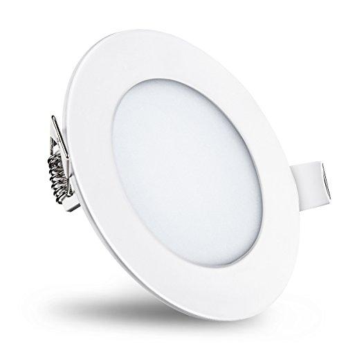 Trylight 9W LED Einbaustrahler Dimmbare Runde Einbauleuchte | 4000K Neutralweiß 630 Lumen | für Schlafzimmer, Küchen, Wohnzimmer, Esszimmer, Konferenzräume, Veranden, Terrassen, Schränke, Flure[Energieklasse A++] (4000K Neutralweiß, 9W)