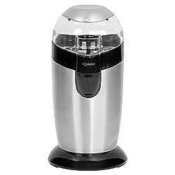 Bomann KSW 445 CB Elektrische Kaffeemühle mit Schlagwerk 40 g Fassungsvermögen, Impuls-Betrieb, Schwarz, Edelstahl