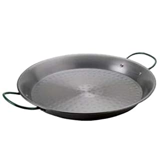 Belseher Y35-55 - Paella Pan Polished Hammered Iron 55cm