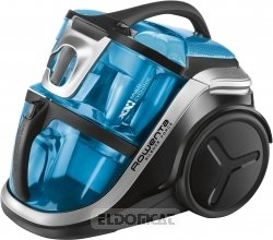 Rowenta Silence Force Multicyclonic - Aspiradora, 750 W, 2 L, 68 dB, Negro/Azul
