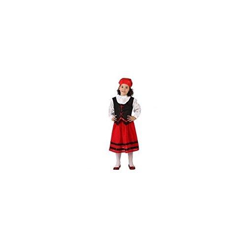 Imagen de disfraz de pastora pastorcita rojo y negro de 10 años a 12 años