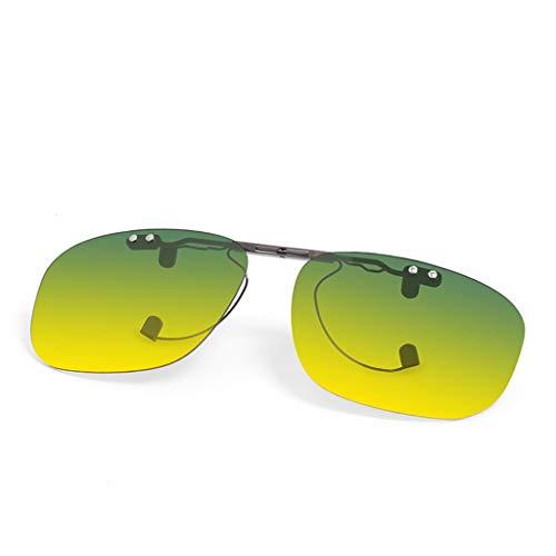 SUNGLASSES Polarisierte Unisex-Clip auf Sonnenbrillen für Korrekturbrillen-Gute Clip-Stil Sonnenbrillen für Myopie Brille im Freien/Fahren/Angeln (Farbe : A)