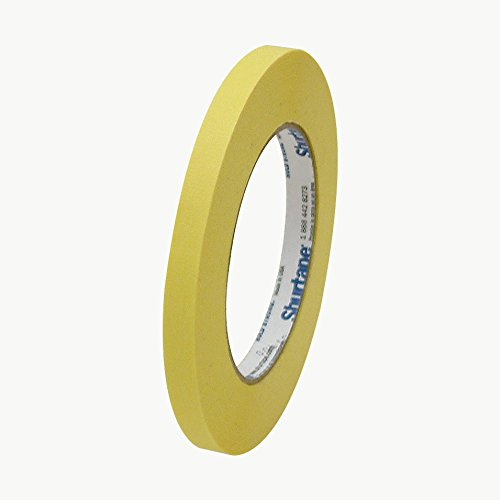 Shurtape CP-631 Colored Masking Tape: 3/8 in. x 60 yds. (Yellow) by Shurtape