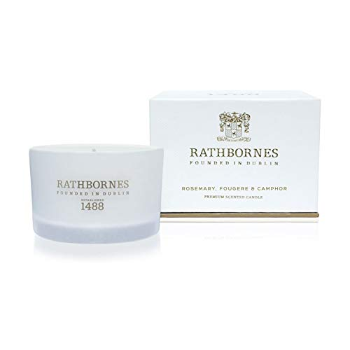 Rathbornes 1488 Rosemary, Fougere & Camphor Scented Travel Candle - Rosemary Scented Candle