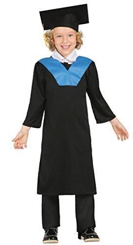 Jungen Graduation Gewand Gelehrten Bademäntel Student Book Tag Fancy Kleid Kostüm Outfit - Schwarz, 5-6 Jahre (Gelehrte Kostüm)