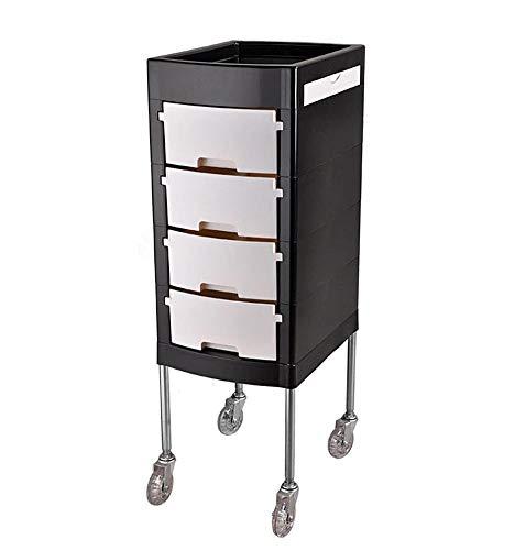 lquide Friseurwagen Vorratsbehälter Utility Cart für Beauty Salon Spa Friseur Roll Tray Organizer Mit 4 Schubladen Haartrockner Halter (4 Schubladen Cart Organizer)