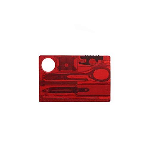 12 in 1 Multifunktionswerkzeug-Karten Camping Barbecue Messer-Gabel-EDC Sicherheit Ersten Hilfe im Freien beweglichen Werkzeug-Karten-Rot - Ersten Gabel