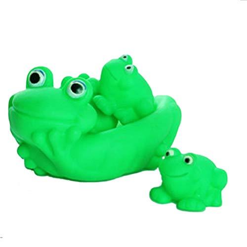 Viel Spaß Kreative Baby Rubber Floating Frog quietschende Familie Bad Spielzeug (grün) -