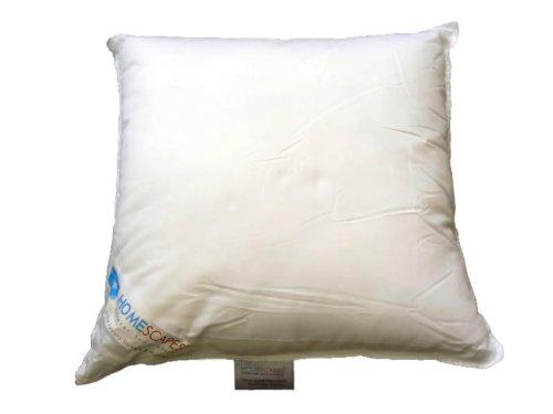 Homescapes – Oreiller ou coussin synthétique 45 x 45 cm 100 % microfibre Anti acarien