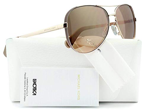 Michael Kors mk5004 Chelsea Aviator Sonnenbrille Rose Gold w/Gold Spiegel (1017/R1) MK 5004 1017r1 59 mm Authentic