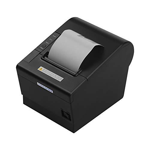 Leslaur GOOJPRT JP-80DC Desktop Themal Drucker 80mm Thermodruckpapier Automatische Papierschneidefunktion Empfangsdrucker Mehrere Kommunikationsschnittstelle Stromanschluss Kassenschublade Port USB