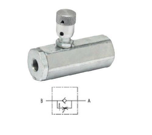 Idraulico 90? pressione compensato flusso regolatore valvola, 3/8