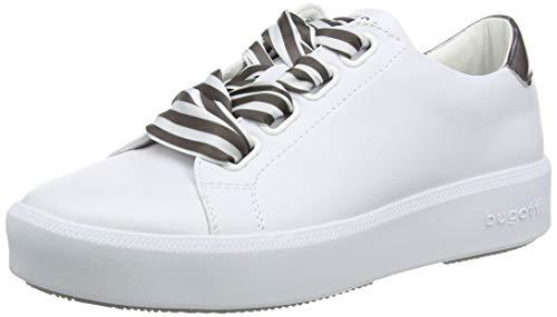 bugatti Damen 431407175950 Sneaker, Mehrfarbig (White/Dark Grey 2011), 38 EU