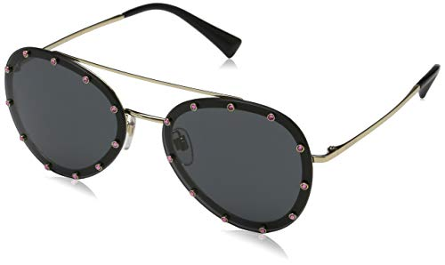 Valentino Damen 0VA2013 300387 58 Sonnenbrille, Light Gold/Smoke