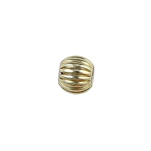 14K Gold Filled–4mm Perle ronde/ondulé–5pcs