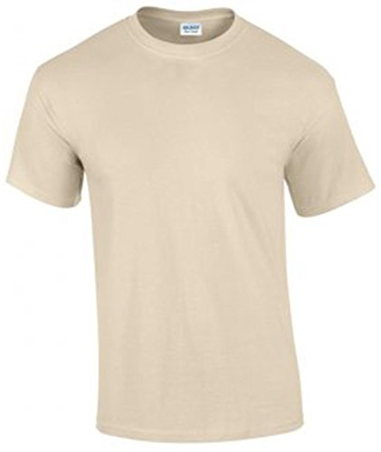 Gildan Ultra Cotton Men's Shirt Short Sleeve T Gelb - Sand