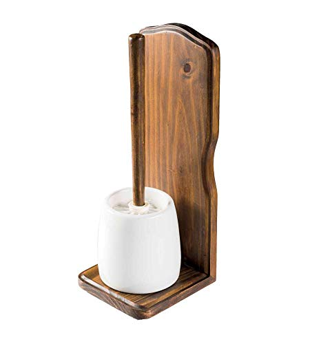 Metaform porta scopino in legno e ceramica mod. mathilde
