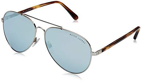 Ralph Lauren Damen 0Rl7058 90016J 62 Sonnenbrille, Silber (Silver/Blue E Mirror White)