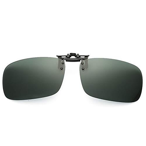 SNXIHES Sonnenbrillen Hochwertige Polarisierte Sonnenbrillen Zum Aufstecken Auf Brillengläser Mit Dunkler Sicht Flip Night Driving Glass Schwarz Einfache Anti-Uva-Linse 1