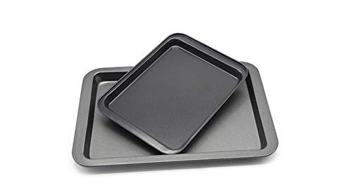 HEILA Rechteckige antihaft-backform backform ofen rechteckigen schwarzen backblech DIY küche liefert (black-24X18X2cm) Black Bread Butter Plate