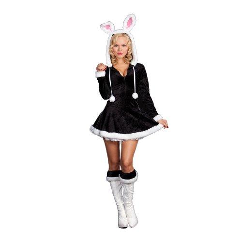 ity Snow Bunny Costume Adult X-Large (Bunny Halloween Make Up)