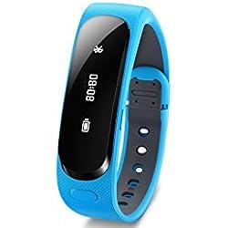"""Huawei TalkBand B1 - Smartwatch Android (pantalla 1.4"""", NFC, resistente agua/polvo, batería de 6 días, talla L), azul"""