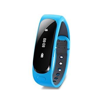 Huawei Talk Band B1 Bracelet d'activité avec Kit d'Oreillette Bluetooth pour Smartphone Bleu