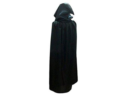 Hermine Haar Kostüm (Umhang WOOD MEETS COLOR Halloween Kapuze Vampir Zauberer Ritter Kostüm Halloween Karneval Party Cosplay für Erwachsene/Kinder Satin Karneval Fasching Kostüm Cape mit Kapuze (Medium,)