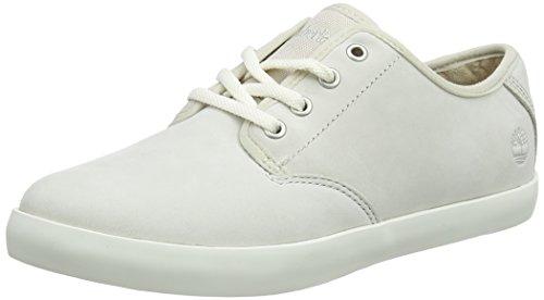 Timberland Boltero, Zapatillas sin Cordones para Mujer, Blanco (Rainy Day Nubuck F48), 36 EU