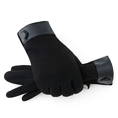 31VaszLy1gL. SS500  - Gloves Male Leather Autumn Winter Keep Warm Point Finger Touch Screen Cycling Windproof Cold Protection Wool GAOFENG