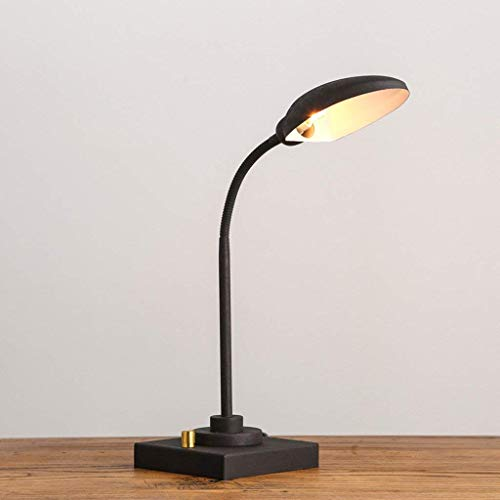 ChuanHan Ceiling Fan Light Chandelier Lightings Table Lamp Retro Industry Antique Old Industrial Iron Table Study Bedroom Bedside Personality Lighting Table Led Cafe