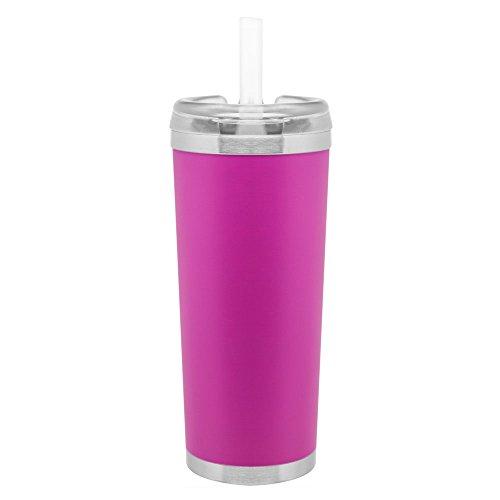 Heiß oder kalt-24Oz doppelwandige 18/8Edelstahl Kupfer Vakuum Isolierte Thermo Travel Tumbler rosa, matt -