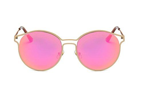 Fiosoji Retro Polarisierte Damen Sonnenbrille,Herren Sonnenbrille Outdoor Brille Unisex Damen Herren Sonnenbrille Rund Rahmenlos (Blau)