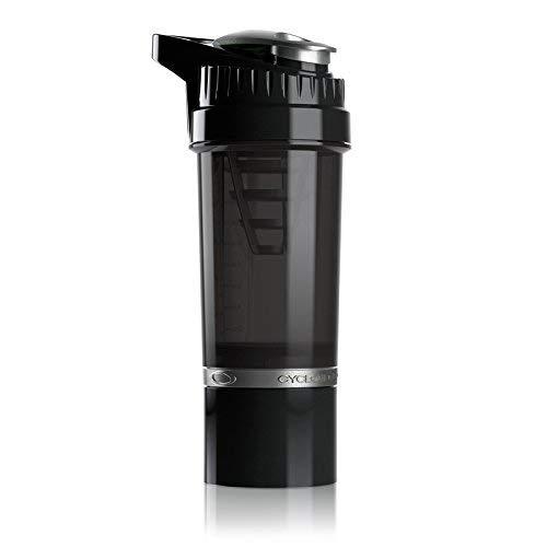 Cyclone Cup Protein Shaker Flasche mit Aufbewahrungsfach, 500 ml