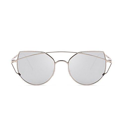 Damen Herren Retro Fashion Shades Sonnenbrille Integrierte UV-Brille Gr. Einheitsgröße, D