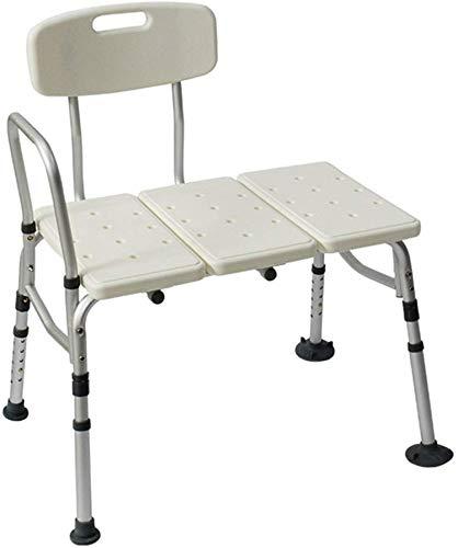 WDHWD Dongyd Bad Hocker Duschsitz Stuhl In 10 Höhen verstellbar Für ältere Menschen/Behinderte/Schwangere Mit Rückenlehne Und Griff Bad Bank In Weiß Heavy Duty -