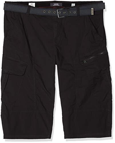s.Oliver Big Size Herren 15.903.74.3660 Shorts, Grau (Charcoal 9897), W(Herstellergröße: 40) - Cargo-hose Baumwolle-charcoal