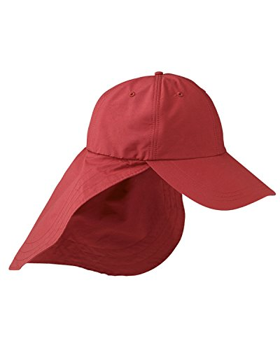 Adams 6 Panel Cap mit lang gestreckt Bill und Hals Cape eom101, M45902-NauticalRed-OS Adams, 6 Panel