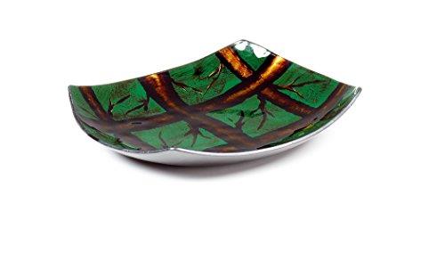 Moycor 924053–Plateau Arizona Verre, 25x 25x 3.5cm, couleur marron et vert