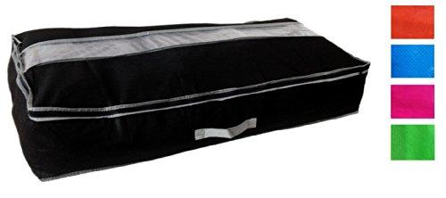 Premium Unterbettkommode 138 gramm Qualität Aufbewahrungsbox 97 x 50 x 19 Aufbewahrung Kleidersack mit Reißverschluß (Pink)