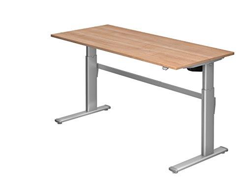 Schreibtisch Hammerbacher Serie XM 180 cm, Dekor: Nussbaum