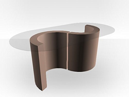 Zespoke Monaco Table basse avec plateau en verre