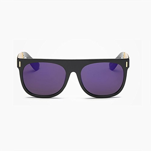 DX Polarisierte Neue ma 'Bin großen Rahmen Retro Mode einkaufstourismus im freien blendfreies licht Komfort langlebige Brille polarisierte Sonnenbrille (Farbe: lila)