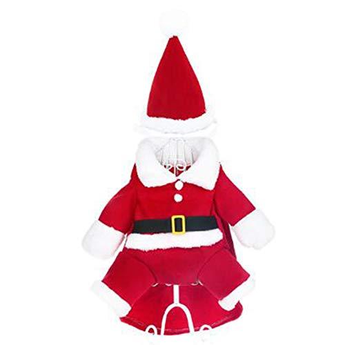 WENXX Weihnachten Haustier Kleidung, Süße Und Verstellbare Katze Und Hund Kostüme, Verwandelt Weihnachtskleidung Teddy Kleine Hundekleidung ()