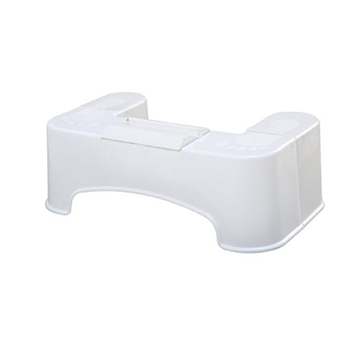 GPF Anti-Rutsch-Fußstütze/Portable WC Squatting Hocker/Kunststoff Hocker Squatty,White -