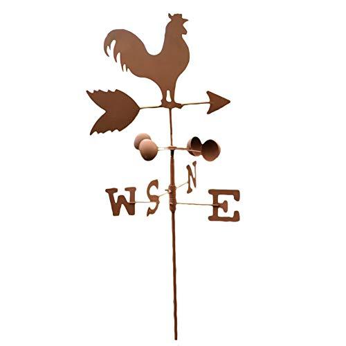 120 cm Vintage Rooster Wetterfahne Metall Eisen Windgeschwindigkeit Spinner Richtungsanzeiger Garten Ornament Dekoration Patio Yard,A
